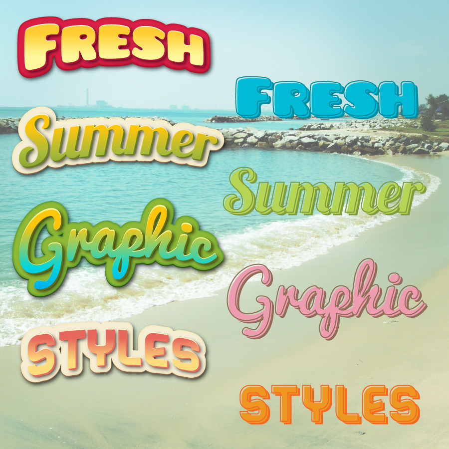 Summer Graphic Styles For Illustrator