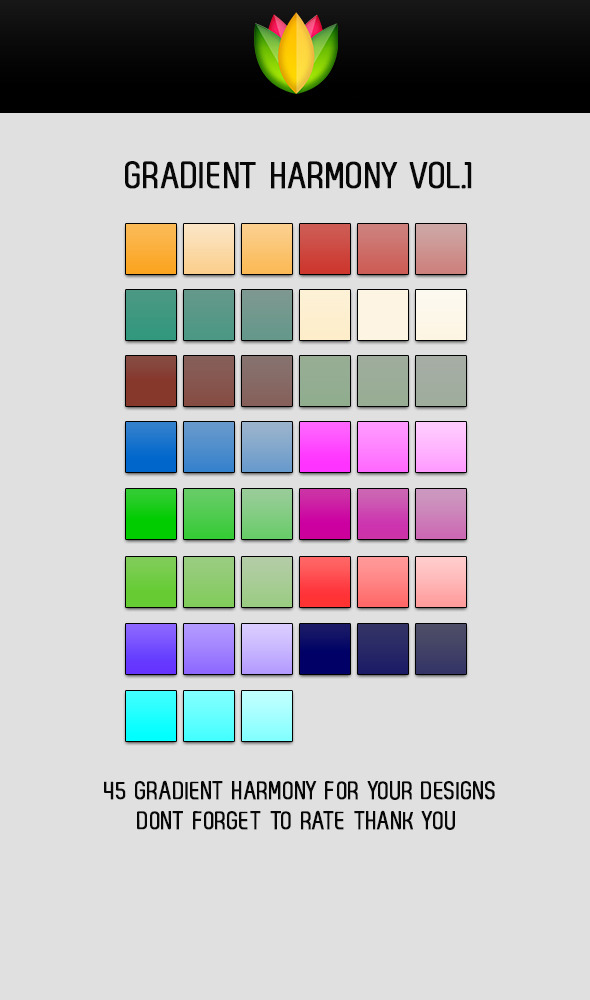 Gradient Harmony V1 - Photoshop Add-ons