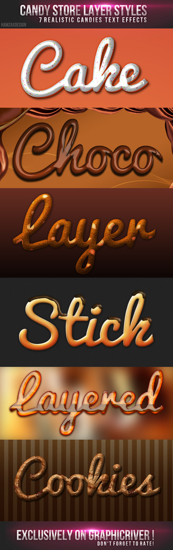Candy Store Photoshop Styles - Text Effects Styles