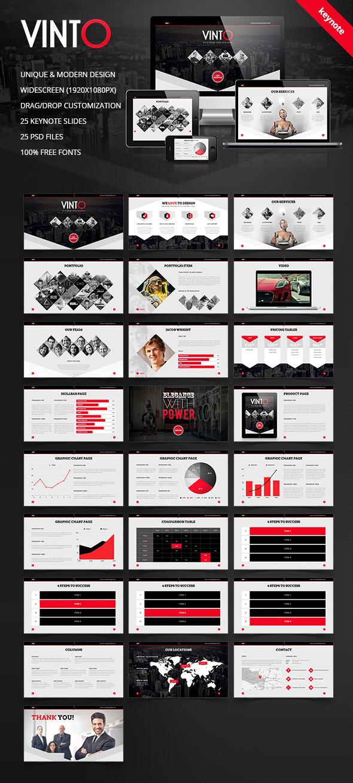 Vinto - Keynote Theme - Keynote Templates Presentation Templates