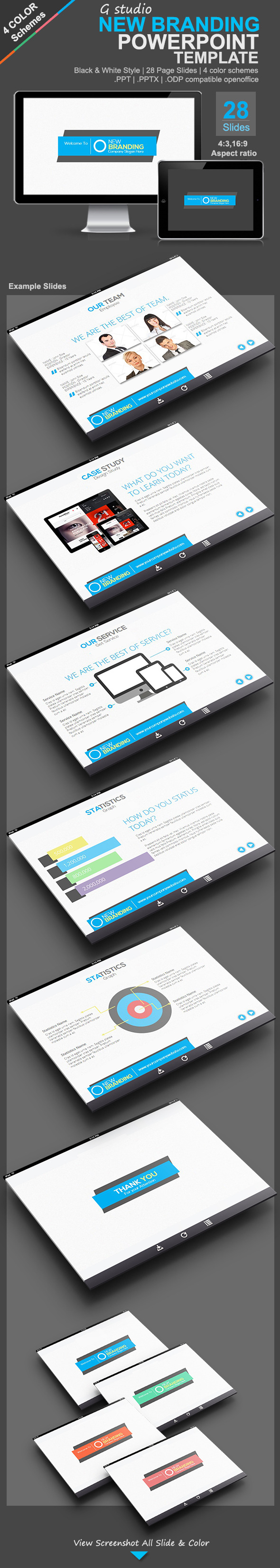 Gstudio New Branding Presentation Template - Creative Powerpoint Templates
