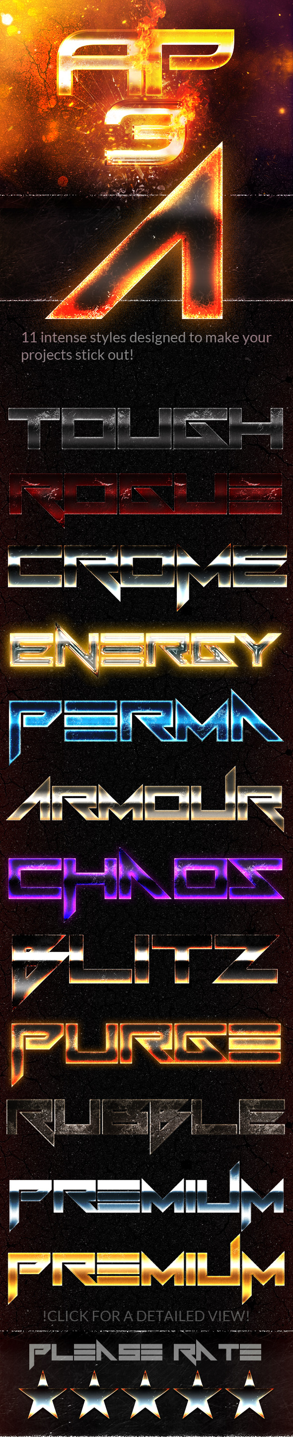 Action Premium 3 Styles - Text Effects Styles