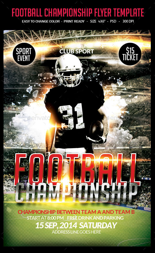 GraphicRiver Football Championship Flyer Template 8783083