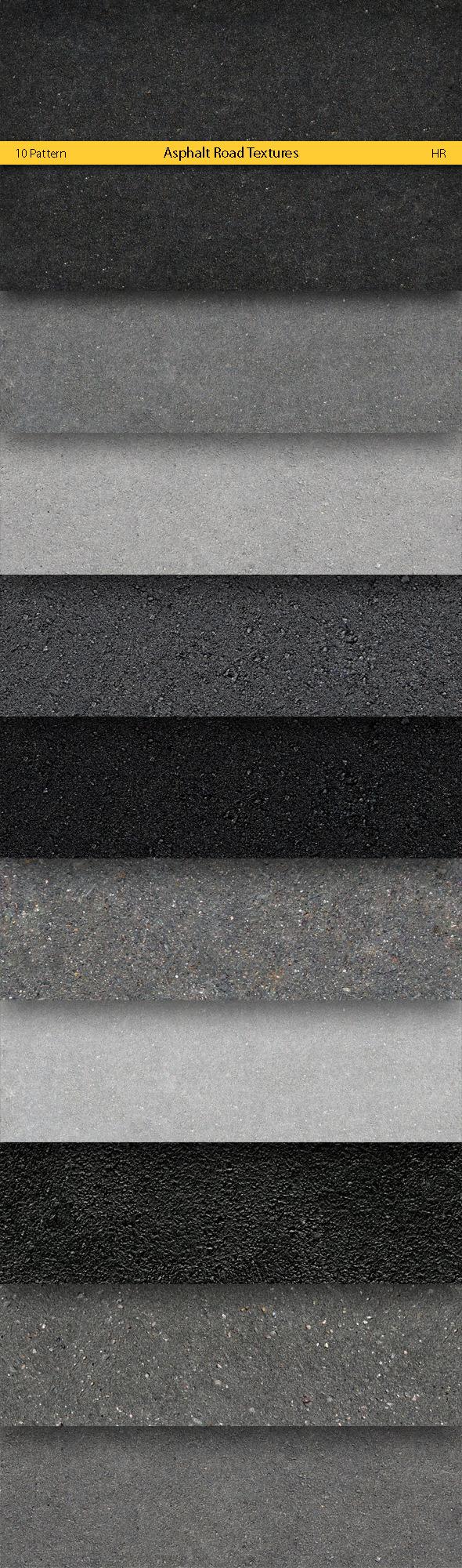 Asphalt Road Surface Textures - Urban Textures / Fills / Patterns