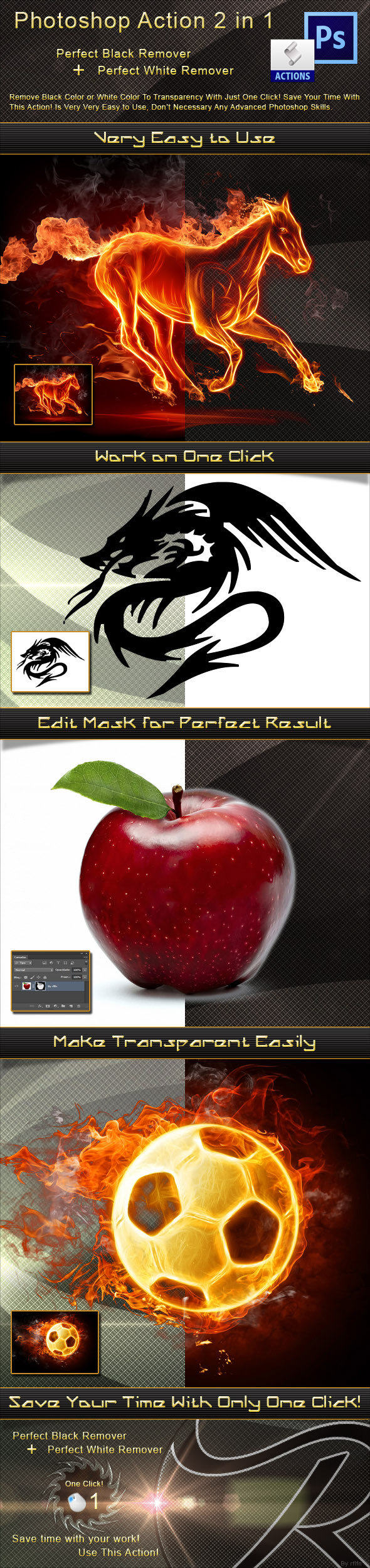 Perfect Black and White Remover - Utilities Actions
