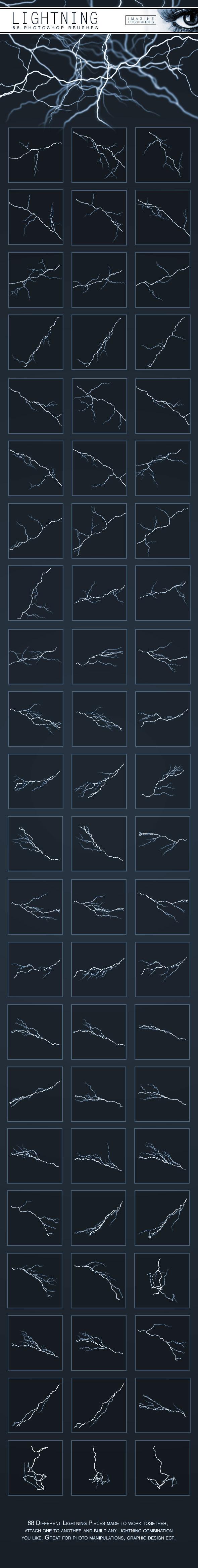 Lightning Brushes - Brushes Photoshop