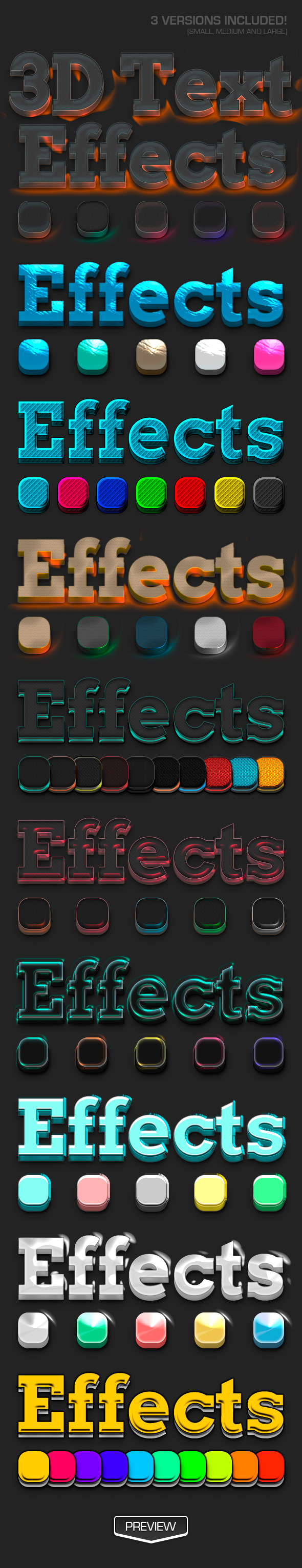 3D Text Effects