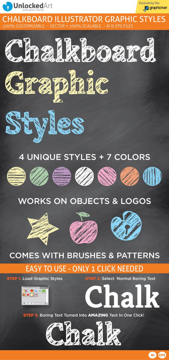 ChalkBoard Graphic Style - Styles Illustrator