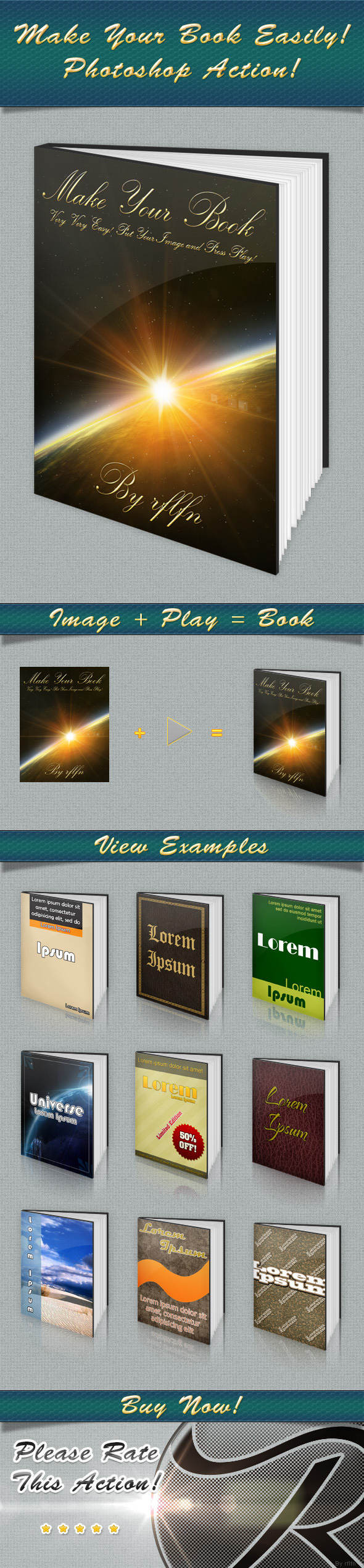 Book Maker - Actions Photoshop