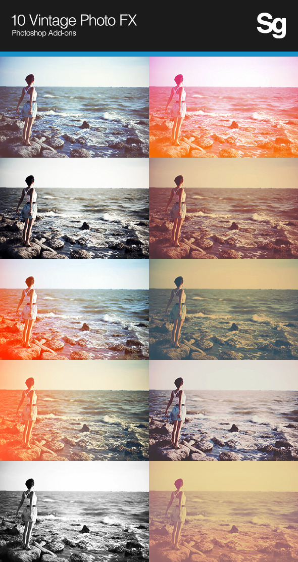 10 Vintage Photo FX - Photo Effects Actions