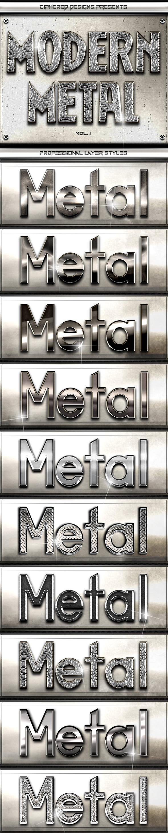 Modern Metal - Professional Layer Styles - Text Effects Styles