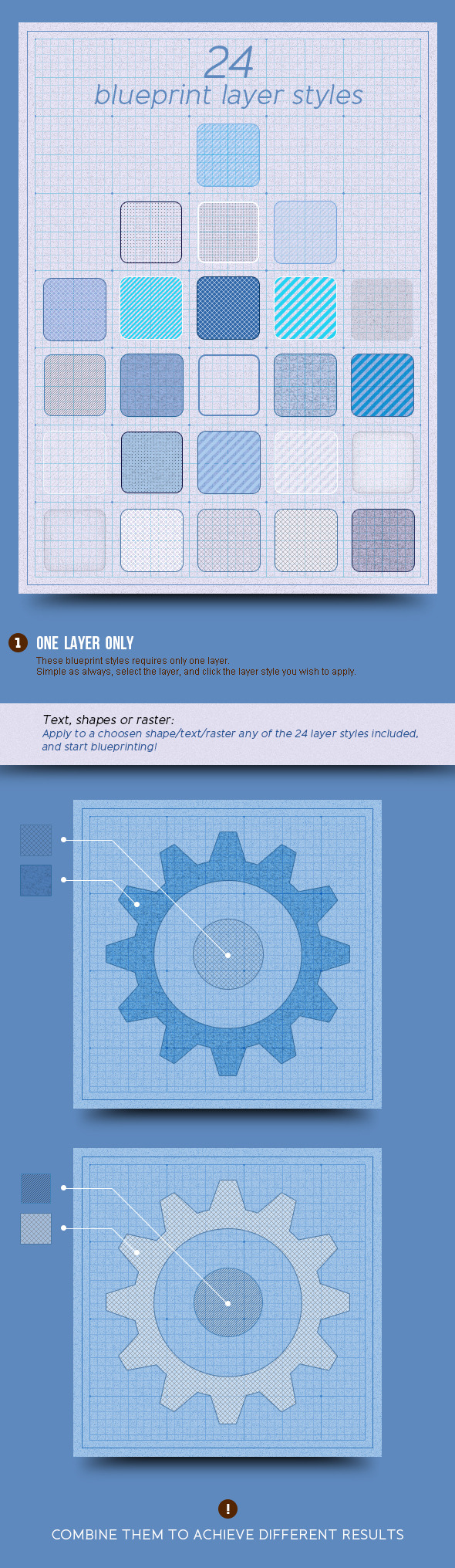 24 Blueprint Layer Styles - Text Effects Styles