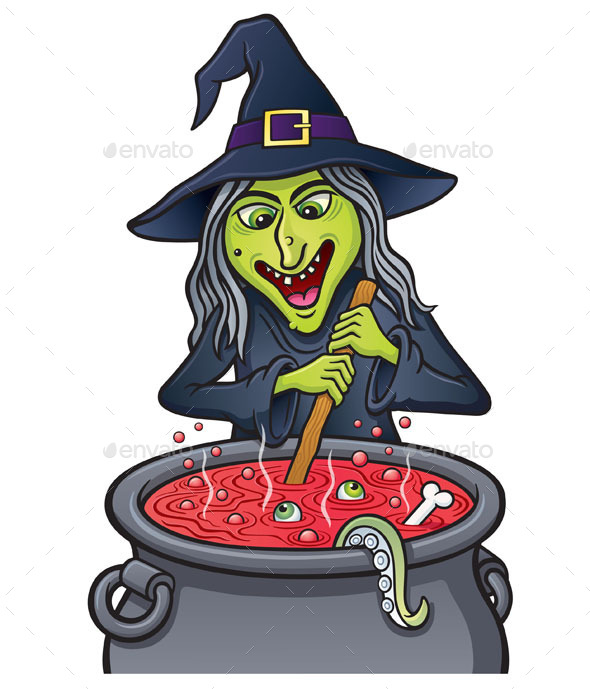 GraphicRiver Witch Stirring Bubbling Cauldron 8798112
