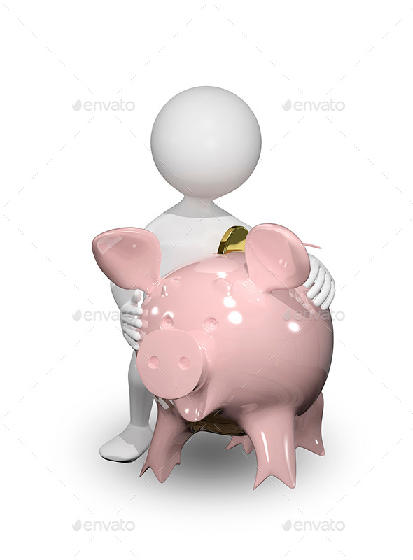 GraphicRiver Man with Piggy Bank 8798268