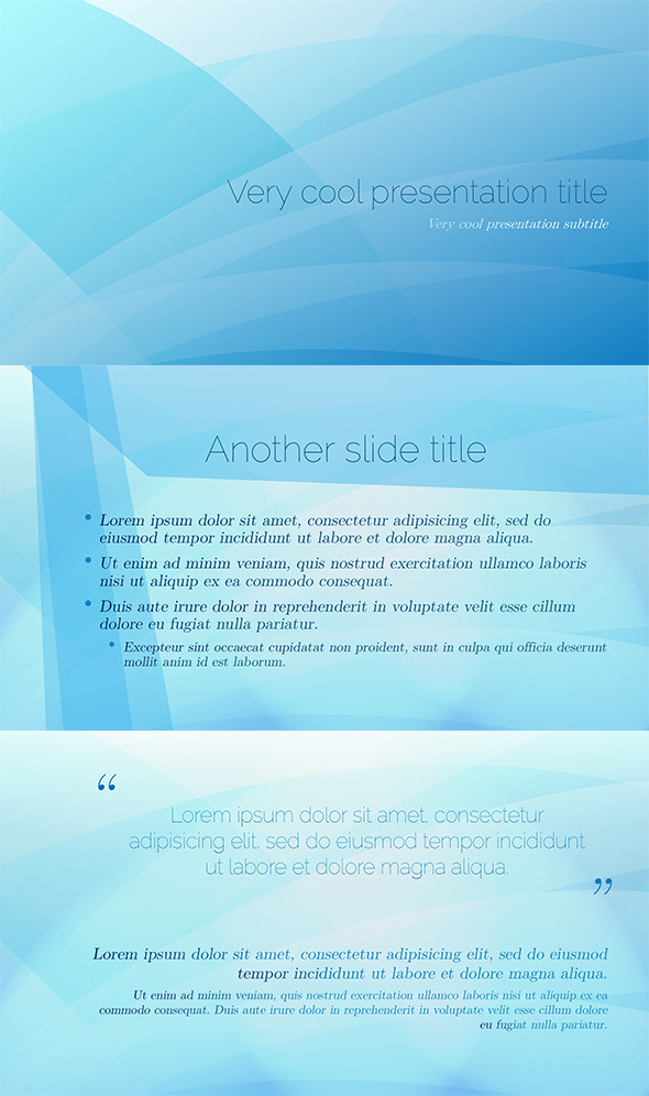 PowerPoint Abstract Blue Template