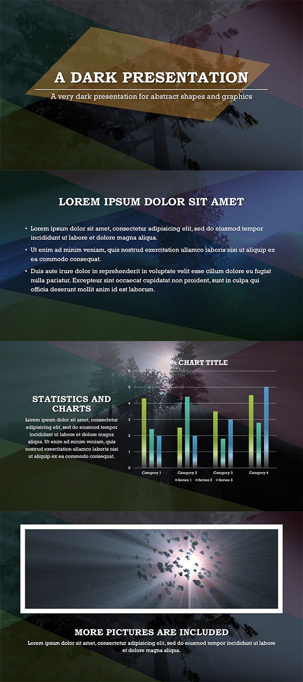 Abstract Dark PowerPoint Template