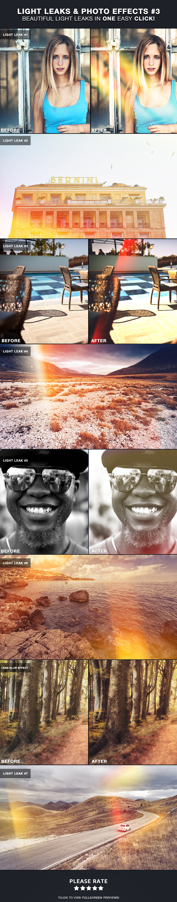Light Leaks & Photo Effects #3 - Photo Effects Actions
