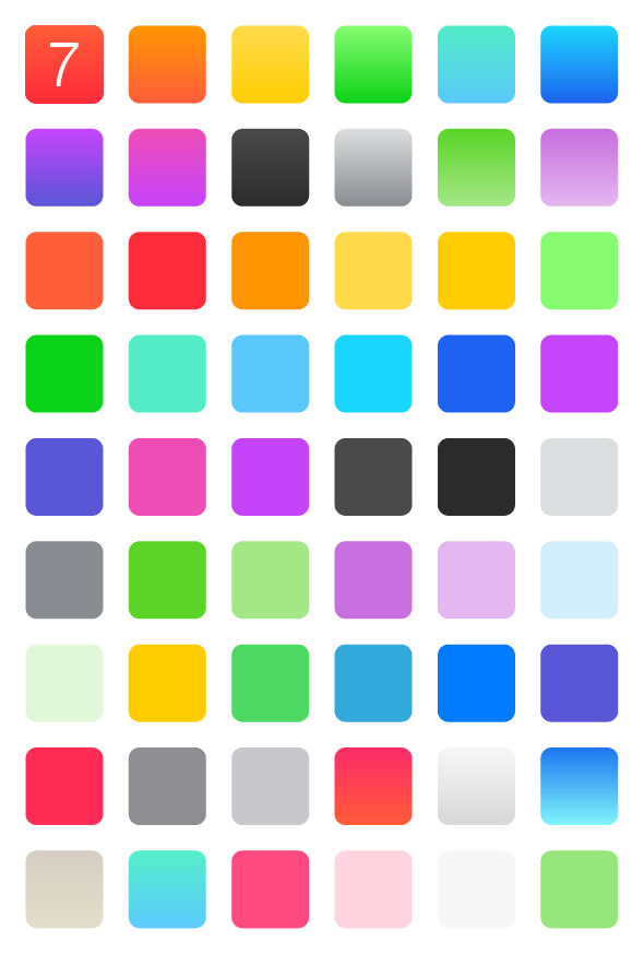 Flat Color Swatches & Gradients