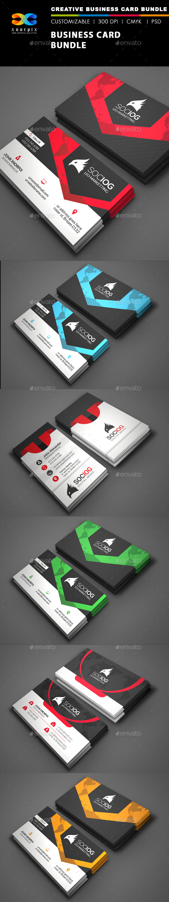 GraphicRiver Business Card Bundle 3 in 1-Vol 42 8798344