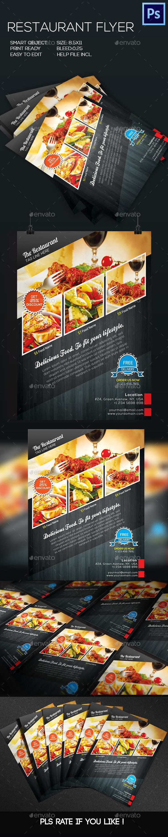 GraphicRiver Restaurant Food Flyer 8798366
