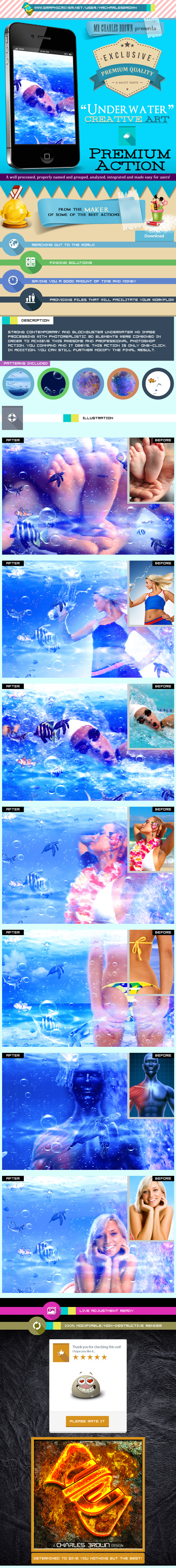 Creative Underwater Art - Photo Effects Actions