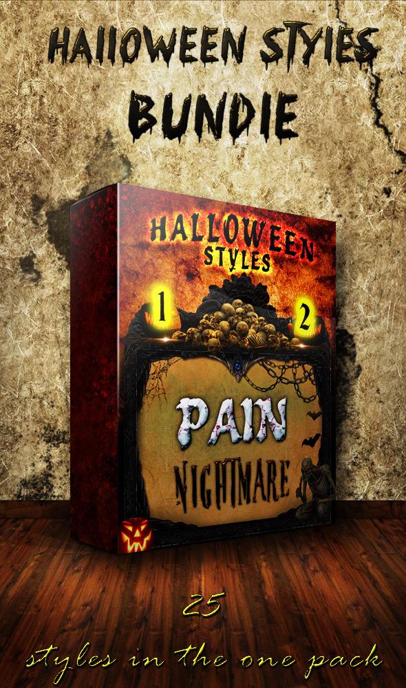 Halloween Styles Bundle - Text Effects Styles