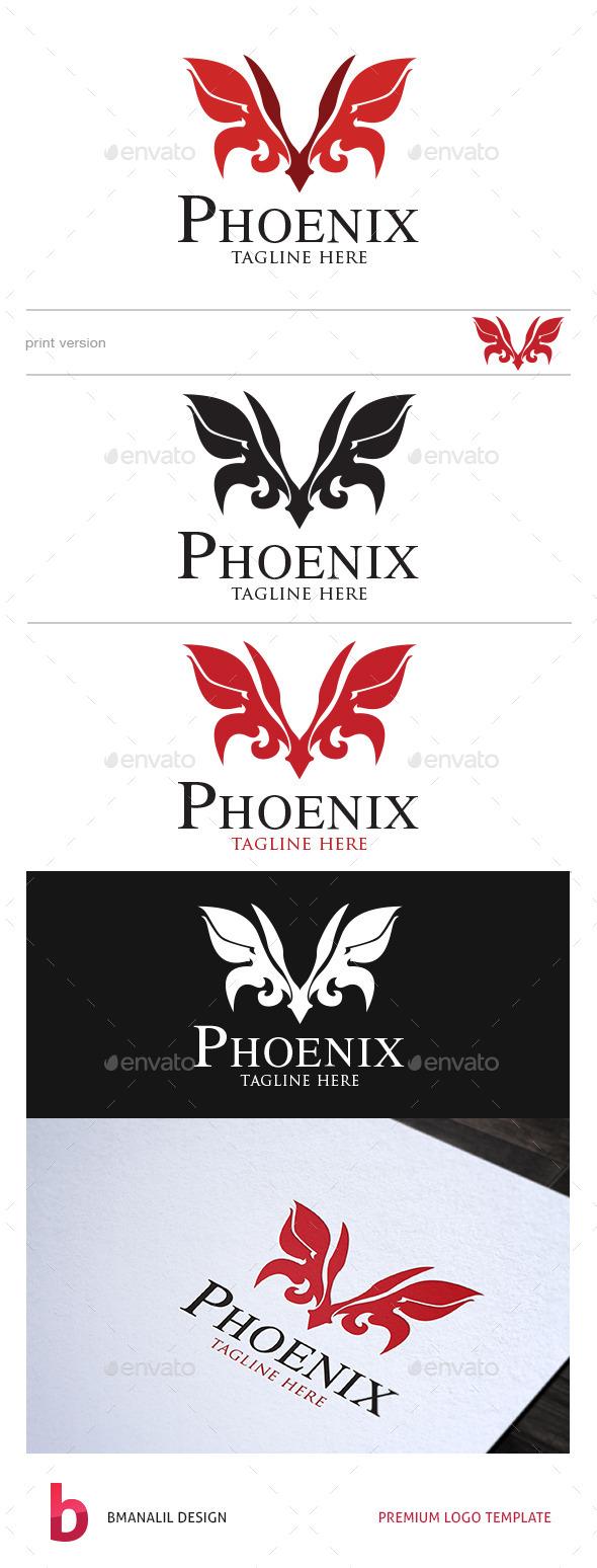 GraphicRiver Phoenix Logo 8798536