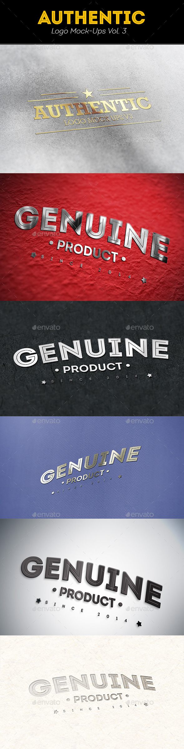 GraphicRiver Authentic Logo Mockups Vol 3 8798558