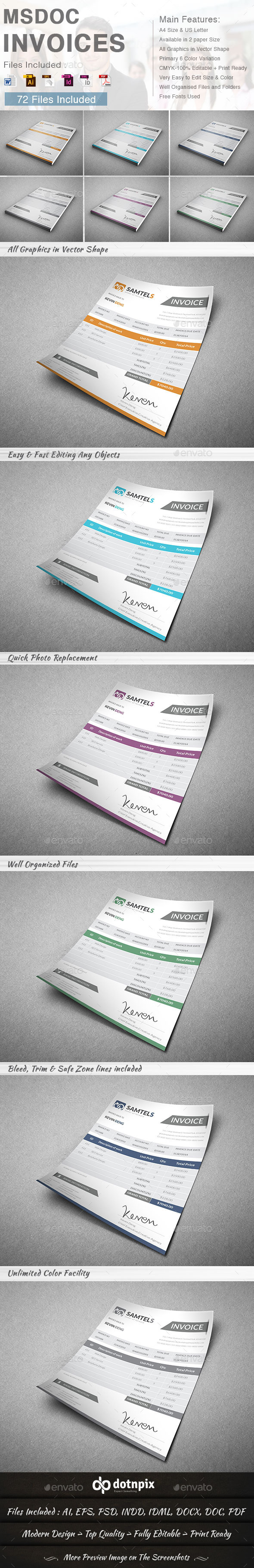 GraphicRiver Msdoc Invoices 8792318