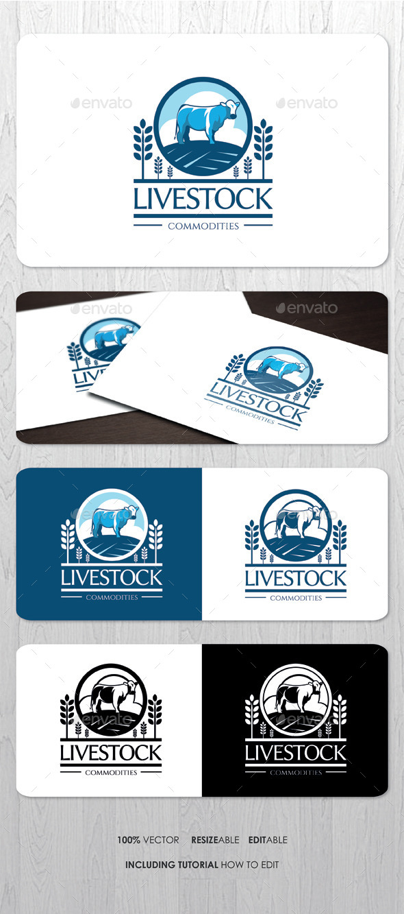 GraphicRiver Livestock Farming Business Logo 8798725