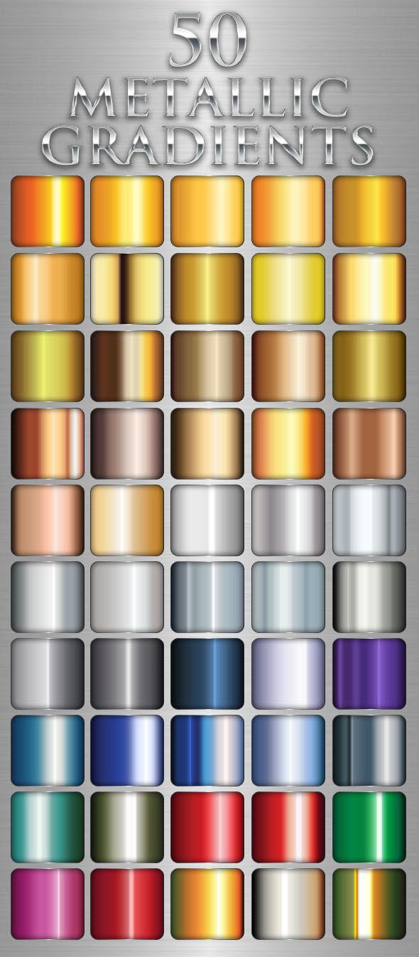 50 Metallic Gradients