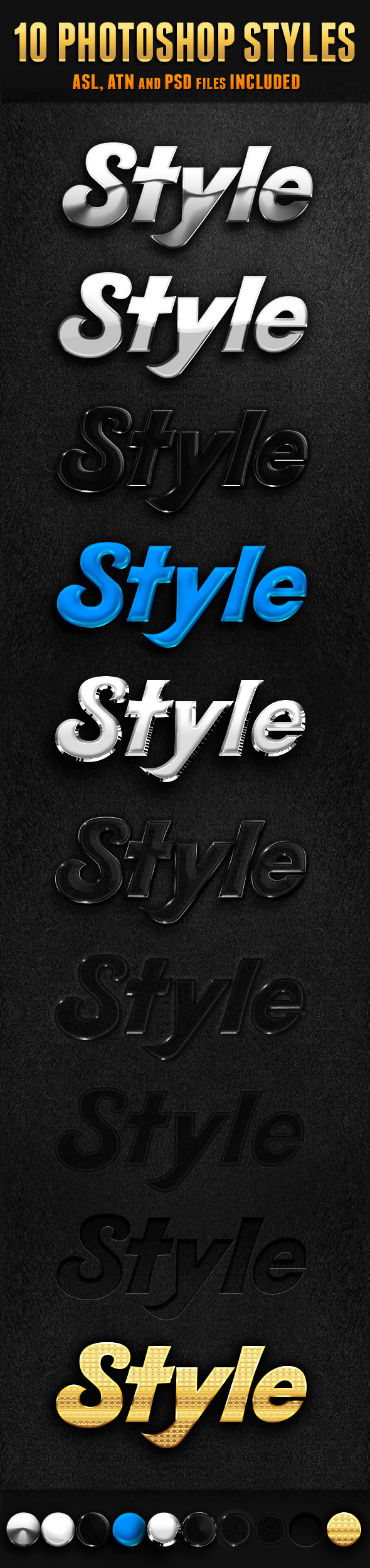 10 Photoshop Styles