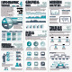 Blue Infographics Vector Elements for Business - GraphicRiver Item for Sale