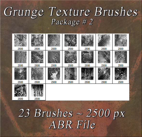 Grunge Texture Brushes Pkg #2
