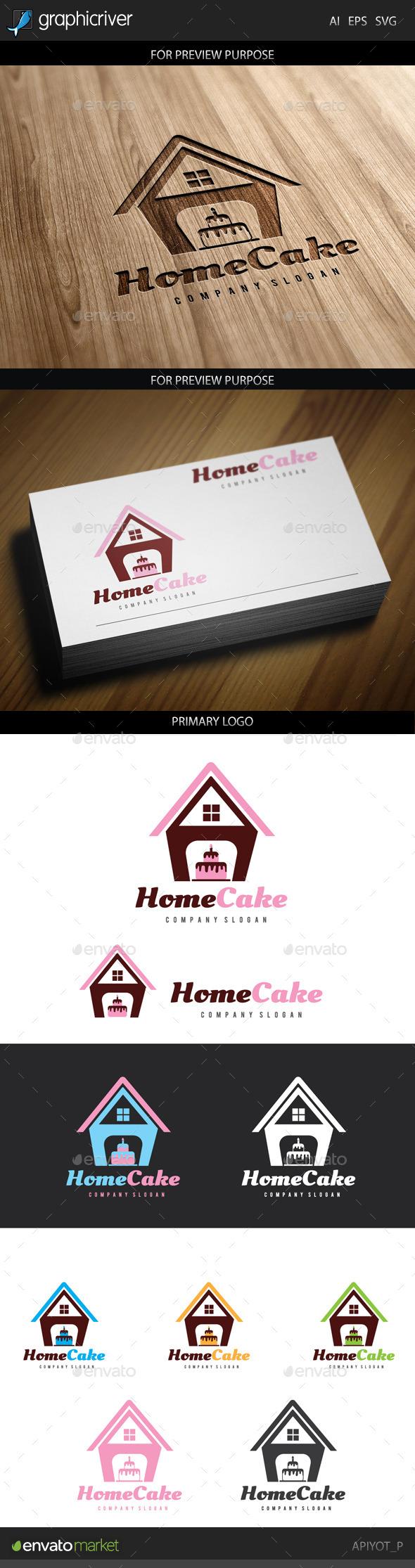GraphicRiver Home Cake Logo 8798946