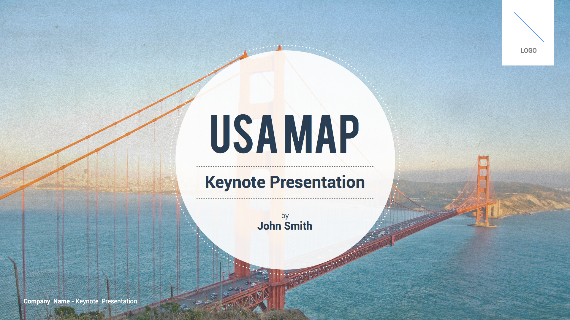 USA Map Keynote Template By Slidehack GraphicRiver - Map of united states for powerpoint presentation