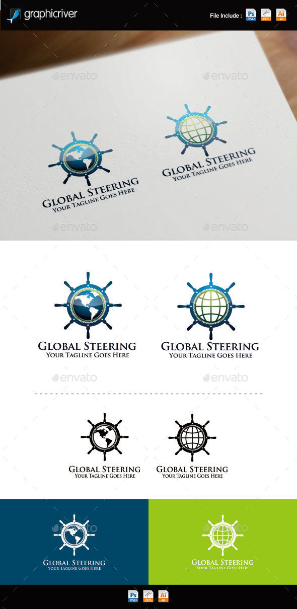 GraphicRiver Global Steering Wheel Logo Template 8798994