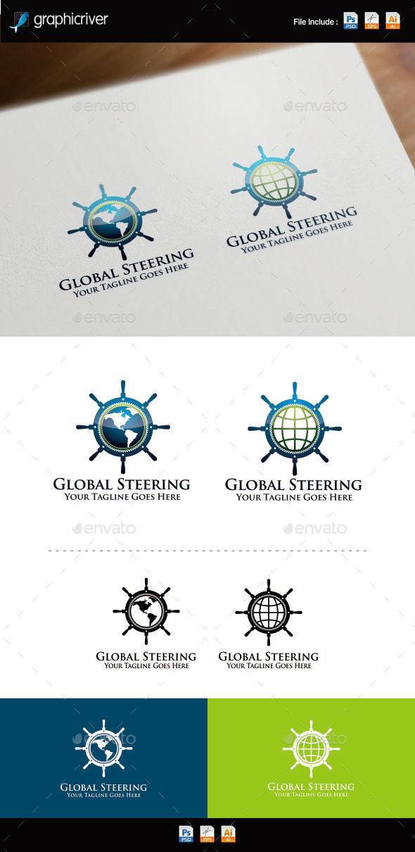 GraphicRiver Global Steering Wheel Logo Template 8798994