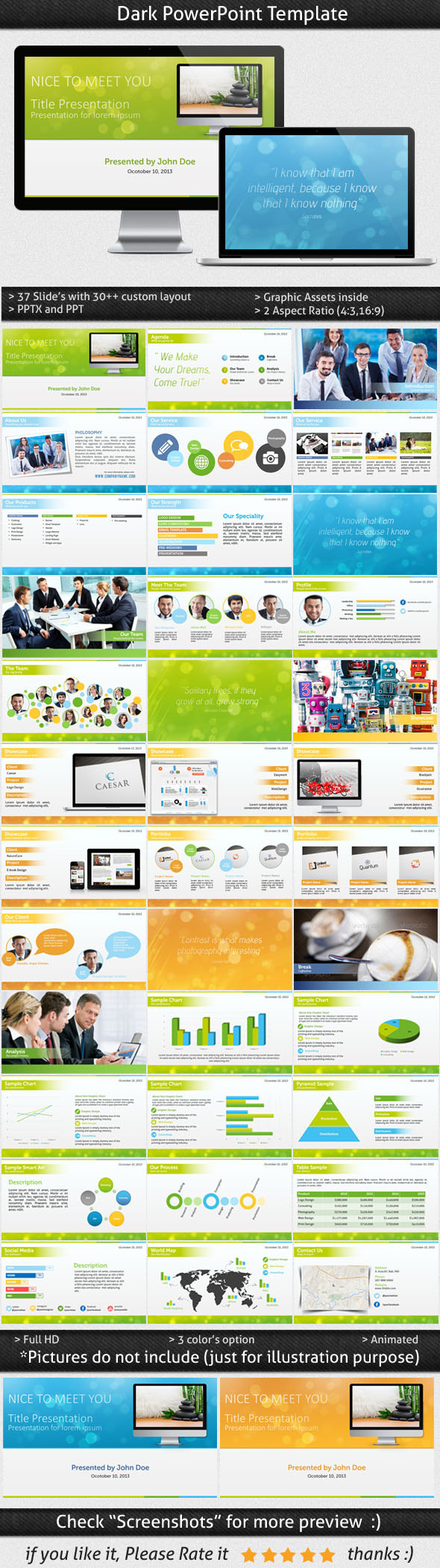 Bokeh Powerpoint Template - Business PowerPoint Templates