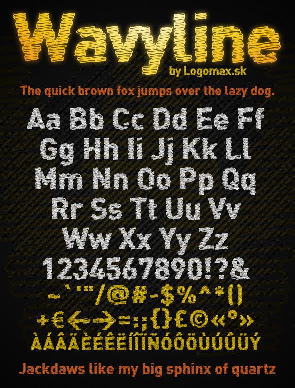 Wavyline Font