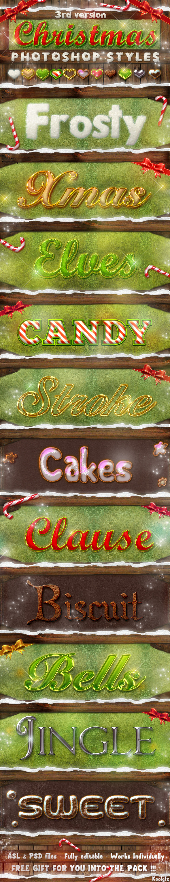 Christmas Photoshop Styles V3 - Text Effects Styles
