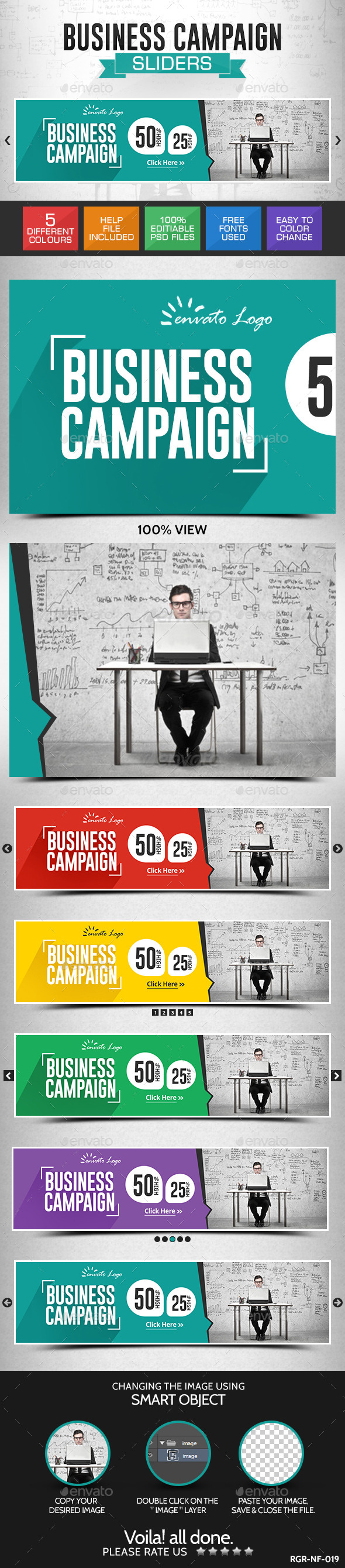 GraphicRiver Business Slider Banners 8799210