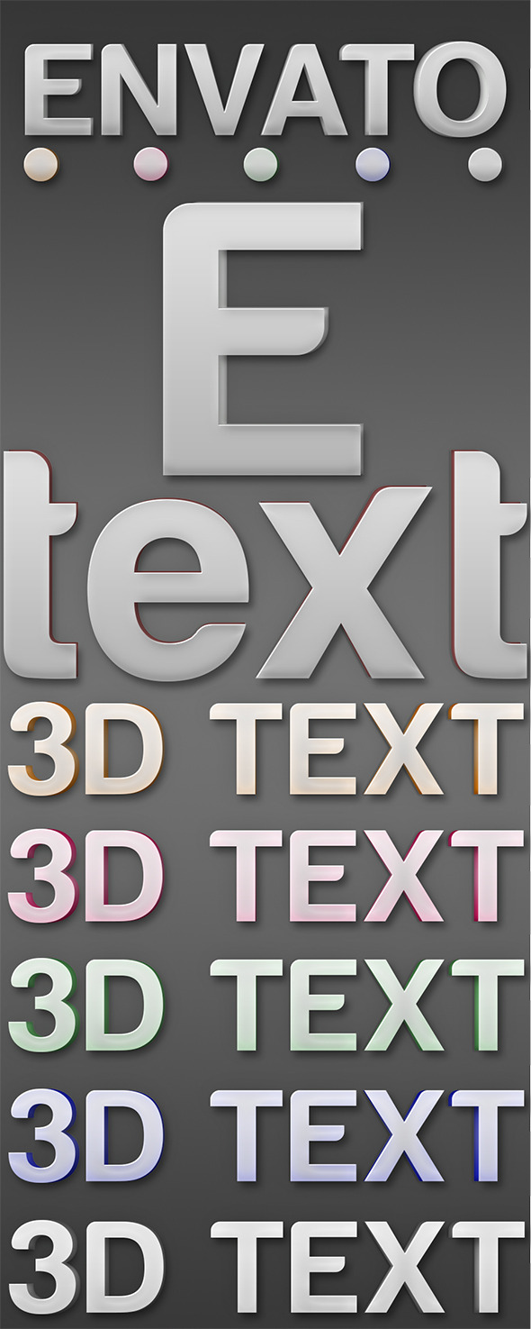 Photoshop 3D Layer Styles