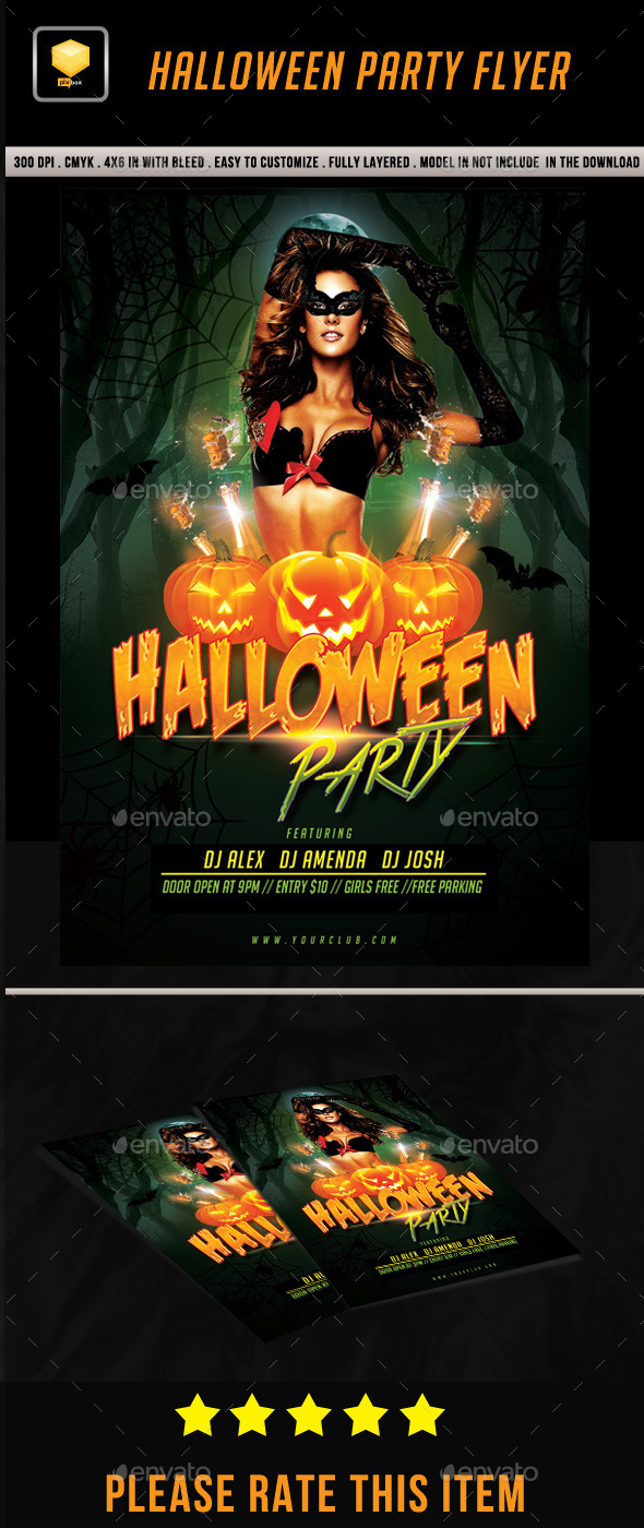 GraphicRiver Halloween Party Flyer 8799287