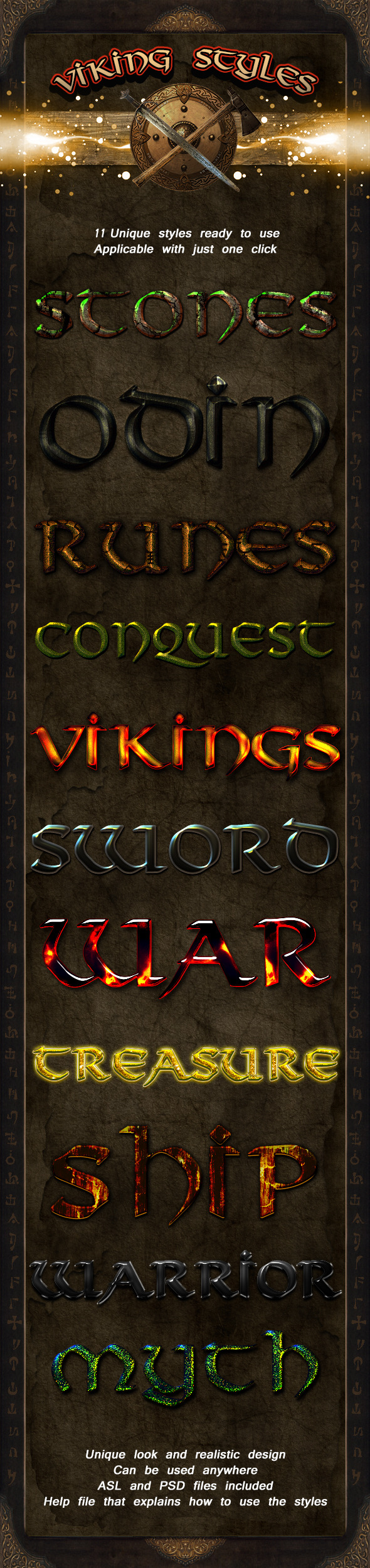 Viking Styles - Text Effects Styles