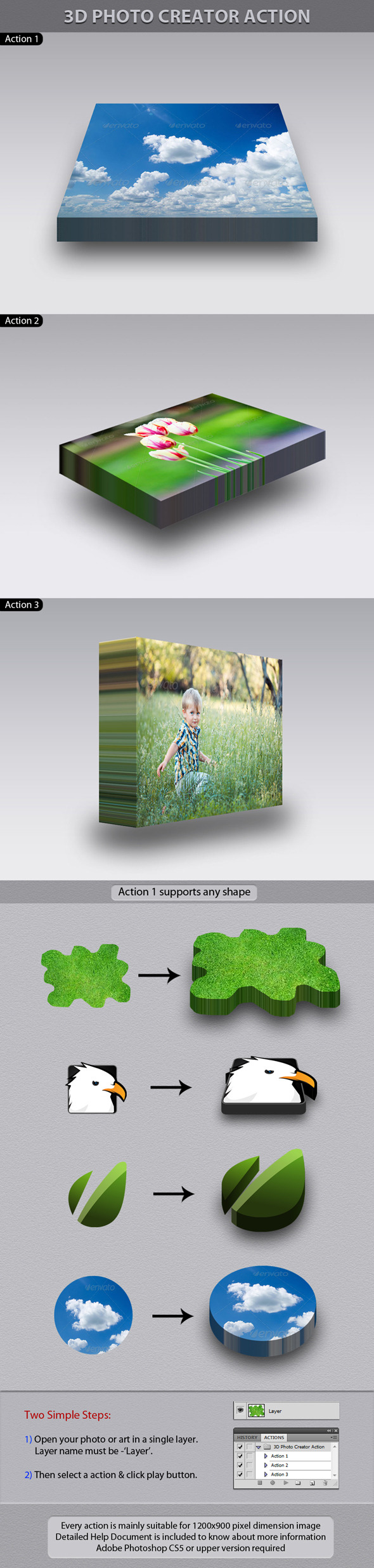 3D Photo Creator Action