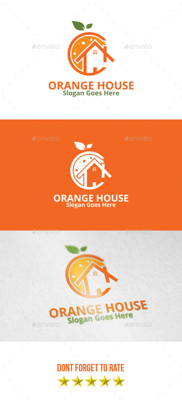GraphicRiver Orange House Logo 8799467