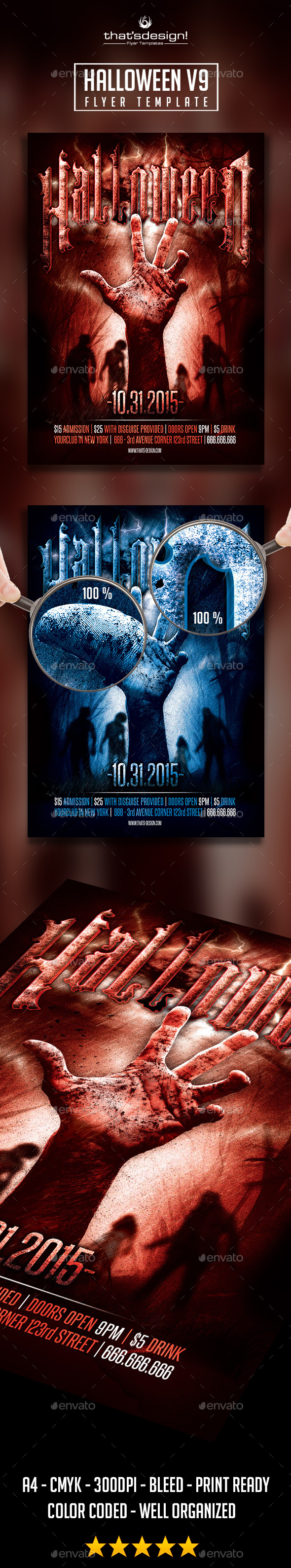 GraphicRiver Halloween Flyer Template V9 8799529