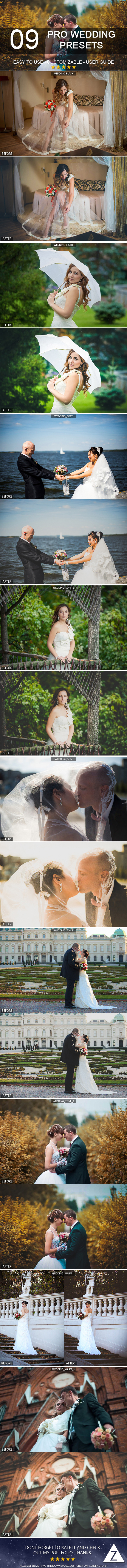 9 Pro Wedding Presets - Lightroom Presets Add-ons