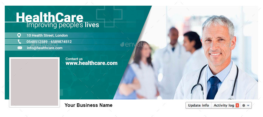 facebook timeline covers health care by conectostudio